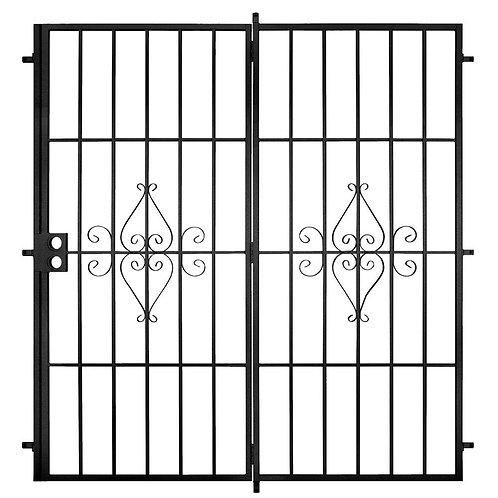 Unique Home Designs Outswing Steel Patio Security Door w/ No Screen