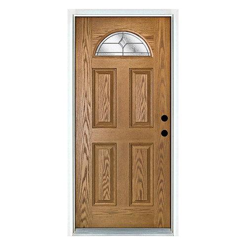 MP Doors Valentia Fan Lite Decorative Prehung Fiberglass Exterior Door