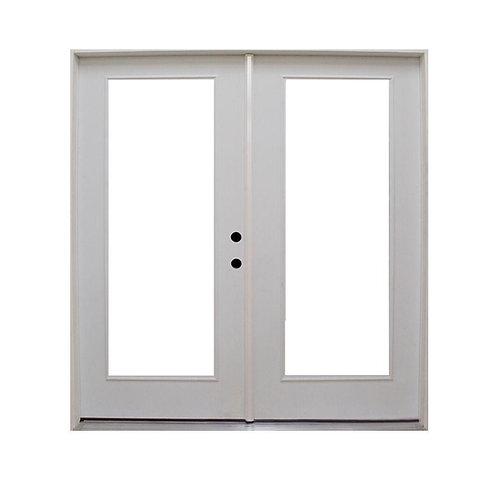 Steves & Sons Retrofit Prehung Inswing Steel French Patio Door
