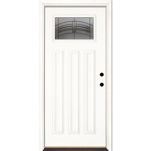 Feather River Rochester Patina Craftsman Prehung Fiberglass Exterior Door