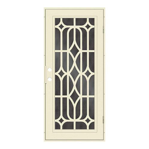 Unique Home Designs Essex Security Door w/ Black Metal Screen