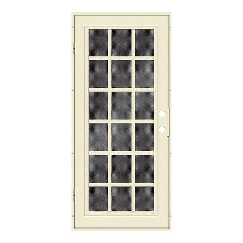 Unique Home Designs Classic French Aluminum Security Door w/ Black Screen