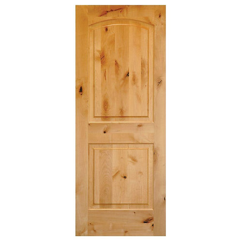 Krosswood Doors Rustic Knotty 2-Panel Solid Core Single Prehung Interior Door