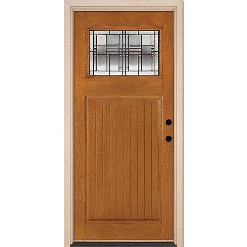 Feather River Monroe Patina Craftsman Stained Prehung Fiberglass Exterior Door