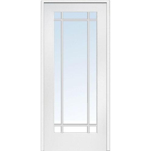 MMI Door Composite Clear Glass 9 Lite Prehung Interior Door
