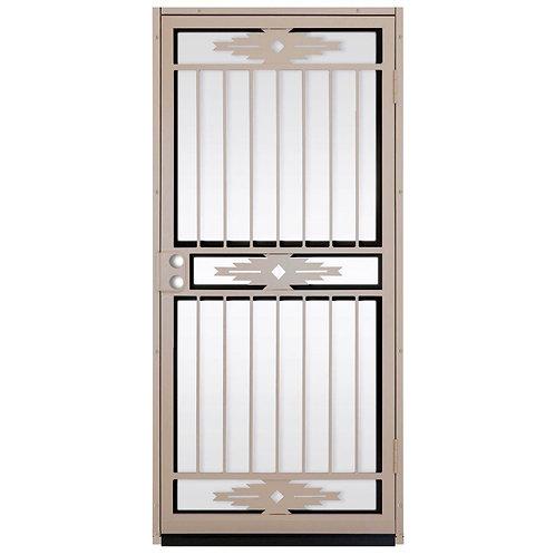Unique Home Designs Pima Tan Security Door w/ Shatter-resistant Glass