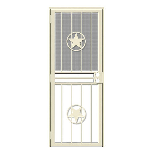 Unique Home Designs Lone Star Security Door w/ Insect Screen & Glass Inserts