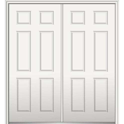 MMI Door Classic 6-Panel Steel Prehung Front Door w/ Brickmould