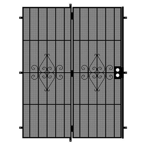 Unique Home Designs Su Casa Patio Security Door w/ Expanded Metal Screen