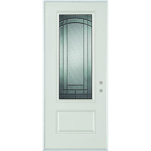Stanley Doors Chatham 3/4 Lite 1-Panel Steel Prehung Exterior Door