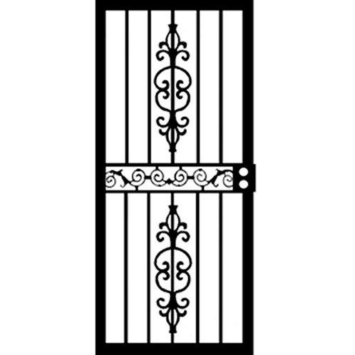 Grisham 405 Series Black Strike Security Door