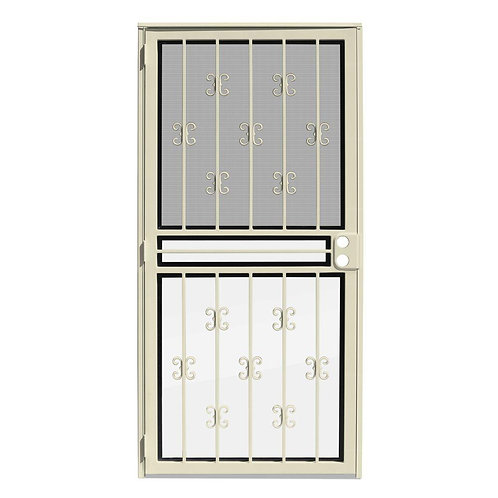 Unique Home Designs Moorish Lace Security Door w/ Insect Screen & Glass Inserts