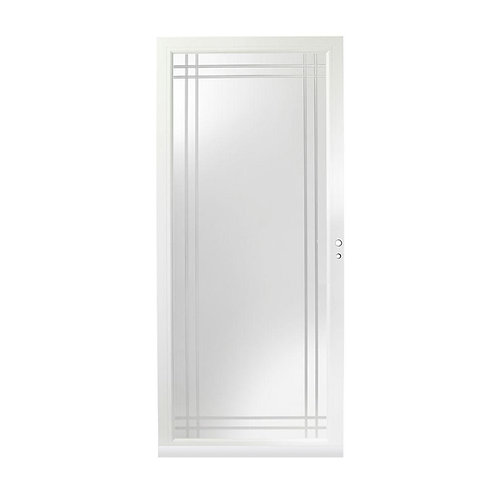 Andersen 3000 Series Fullview Etched Glass Aluminum Storm Door