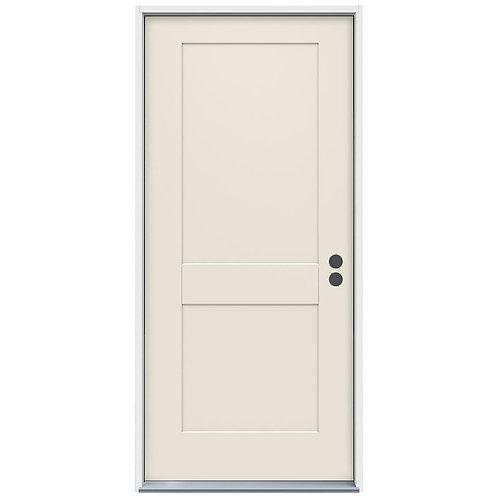 JELD-WEN 2-Panel Craftsman Steel Prehung Exterior Door