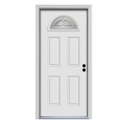 JELD-WEN Fan Lite Passage Steel Prehung Exterior Door