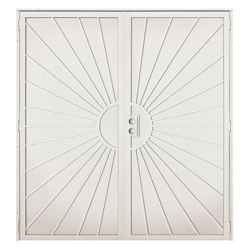Unique Home Designs Solana Steel Double Security Door w/ Metal Screen
