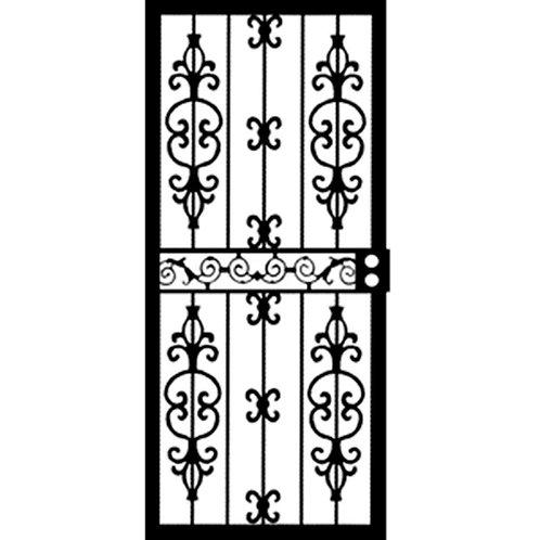Grisham 407 Series Black Moscow Security Door