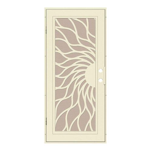 Unique Home Designs Sunfire Aluminum Security Door w/ Desert Sand Metal Screen
