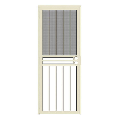 Unique Home Designs Paladin Security Door w/ Insect Screen & Glass Inserts