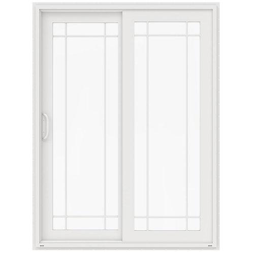 JELD-WEN V-4500 Vinyl 9 Lite Sliding Patio Door