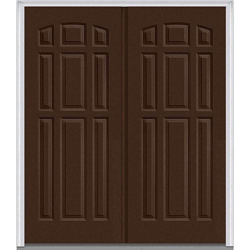 MMI Door Classic 9-Panel Fiberglass Prehung Front Door w/ Brickmould (CUSTOM)