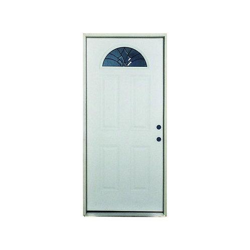Steves & Son Webville Fan Lite Prehung Fiberglass Exterior Door
