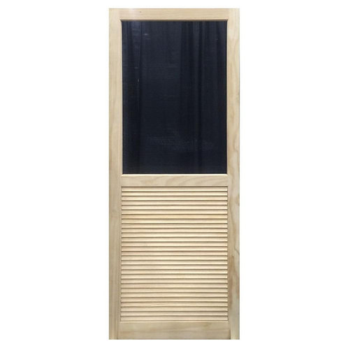 Kimberly Bay Louvered Stainable Screen Door