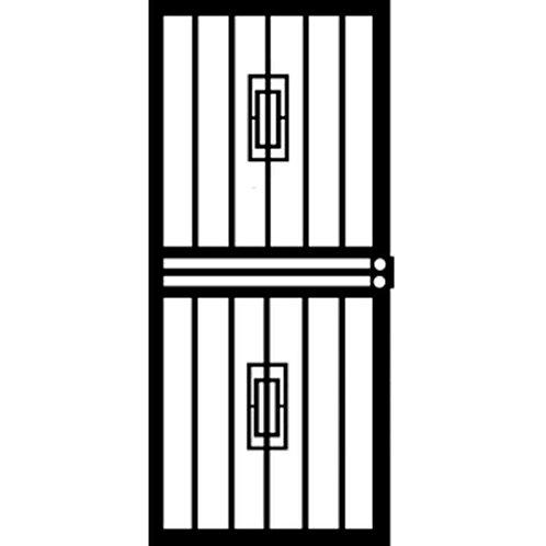 Grisham 453 Series Black Mars Security Door