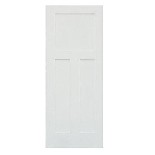 Krosswood Doors Craftsman Shaker 3-Panel Solid Hybrid Core Interior Door