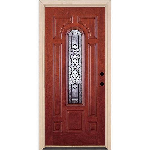 Feather River Lakewood Patina Center Arch Prehung Fiberglass Exterior Door