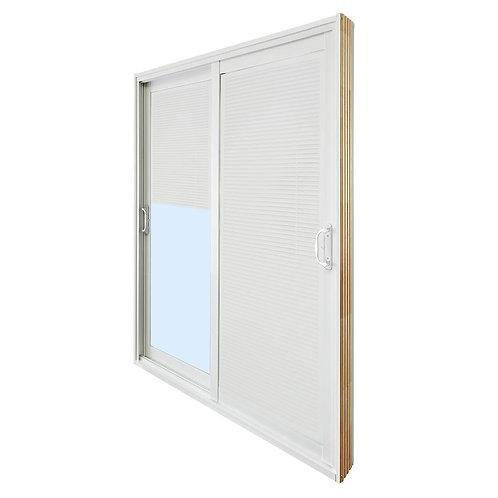 Stanley Doors Double Sliding Patio Door w/ Internal Mini Blinds