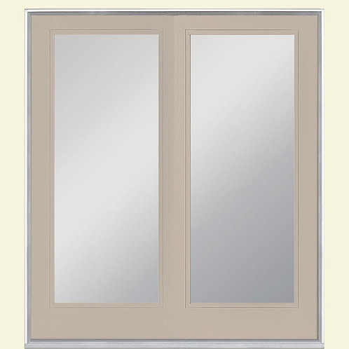 Masonite Prehung Inswing Full Lite Clear Glass French Patio Door