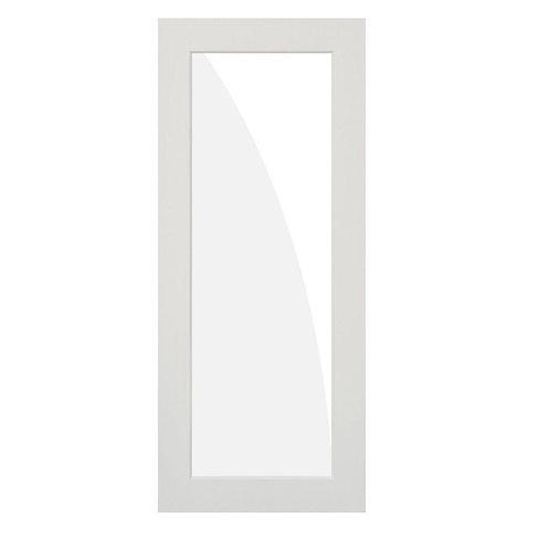 Krosswood Doors 1-Lite Frost Satin Hybrid Core Prehung Interior Door
