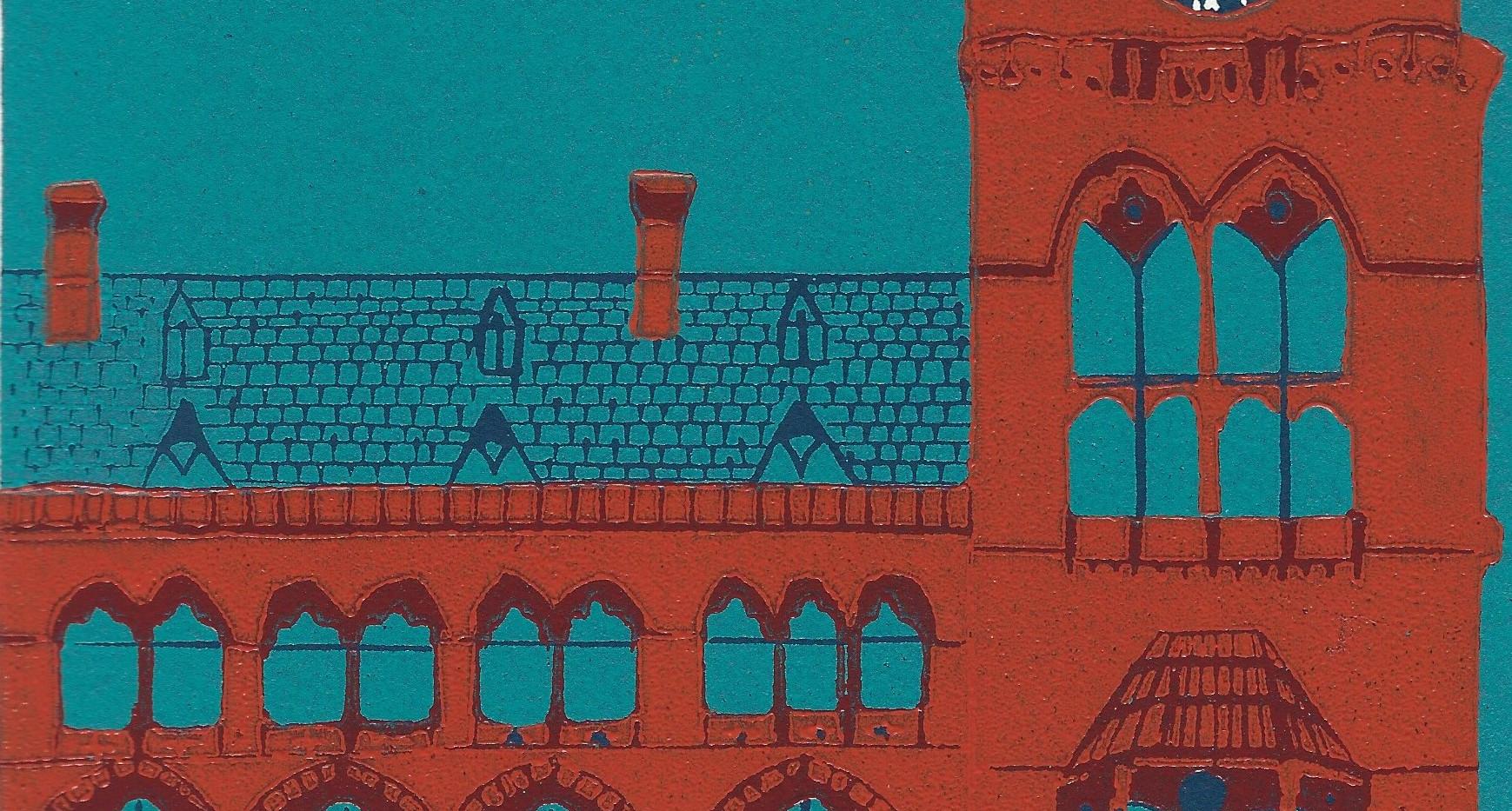 St Pancras Clock Tower Linocut.jpg