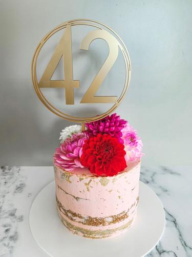 Double Raspberry Birthday Cake