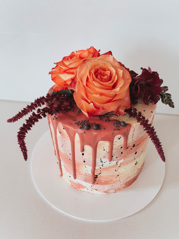 Aquarelle Style Lemon Poppy Cake