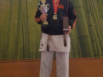 Sieg von Ilija Letic (Shinsei Kan Karateschule) am 45. internationalen Fujimura Cup
