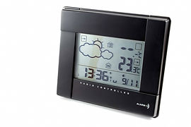 electronic clock with weather station is