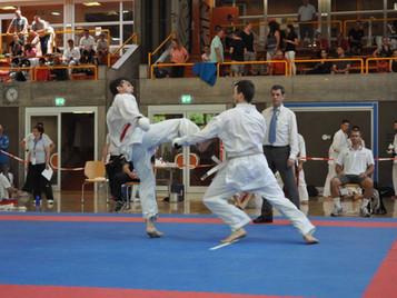 Ilija Letic von der Shinsei Kan Karateschule wird Elite Schweizermeister im Shobu Ippon Karate