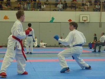 Nachwuchskämpfer von Shinsei Kan gibt vollen Einsatz