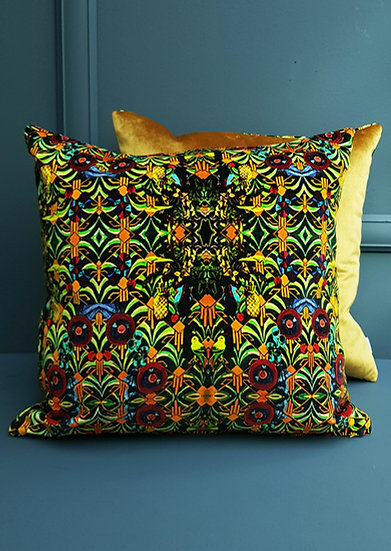 Art Velvet Cushion - Art Deco and Gold