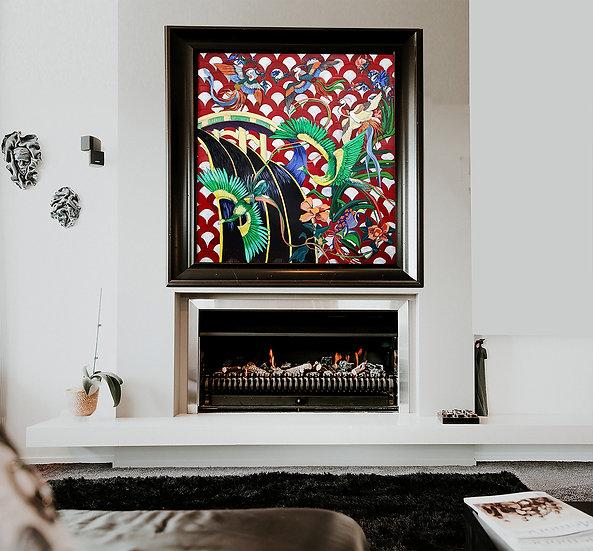 'Black Waters' oil painting