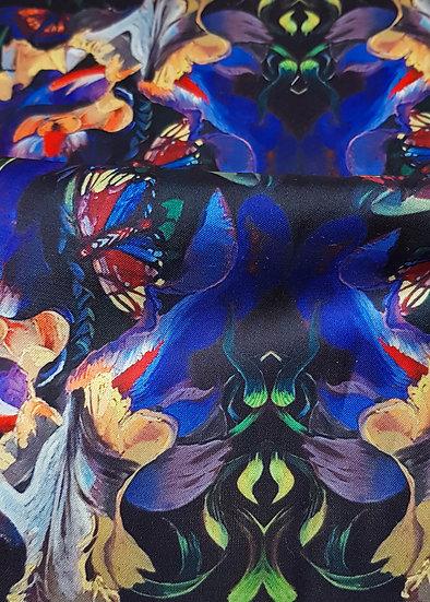 Artisan Fabric  Sample - Purple Lily