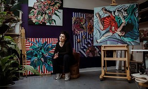 Karolina Franceschini in  her studio