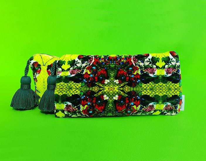 Artisan  Green Velvet Clutch