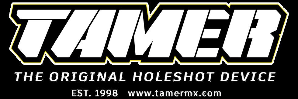 Tamer Logo Complete White Dark Backgroun