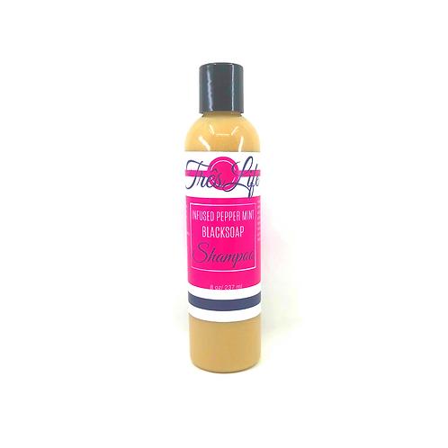 Peppermint Black Soap Shampoo