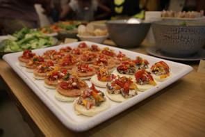 Tomato Sardine Crostini