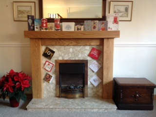 Solid Oak fireplace surround