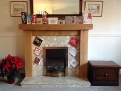Solid Oak fireplace surround